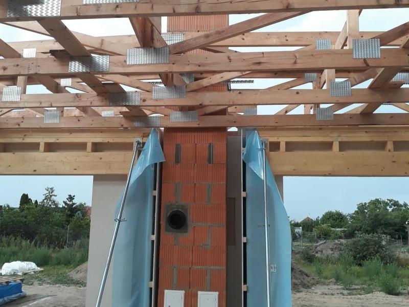 Zděný systémový komín CIKO - 3V UNIVERSAL se dvěma průduchy, pro krbová kamna v dřevostavbě